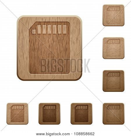 Memory Card Wooden Buttons