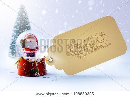 Art  Christmas Tree And Santa Claus