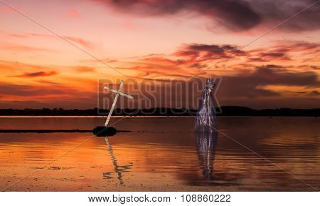 Jesus Christ Cross Lake