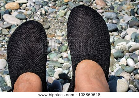 Comfortable Shoes For The Beach And Swimming In The Sea.