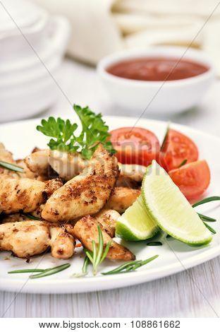 Roasted Chicken Fillet And Vegetables