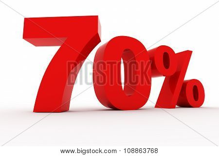 3D Rendering of Number percent red symbol