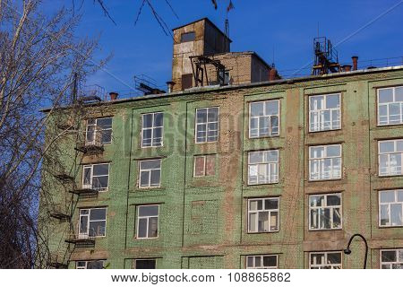Apartment Building In Green