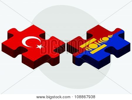 Turkey And Mongolia Flags