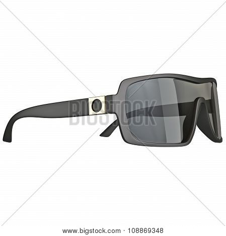 Sunglasses with gold inlay