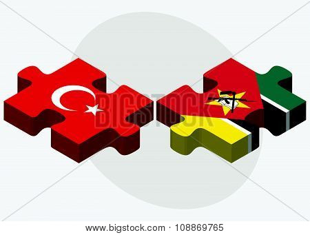 Turkey And Mozambique Flags