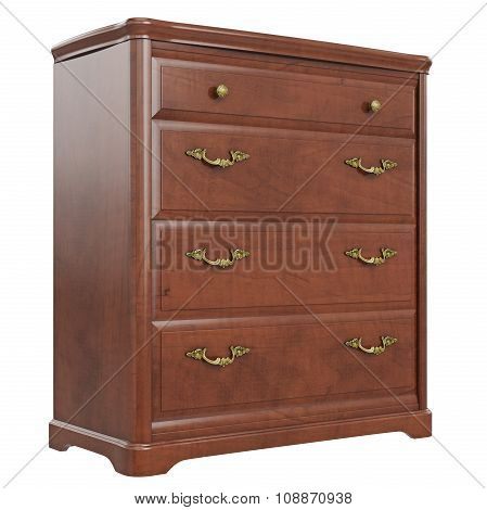 Commode classic gold handles