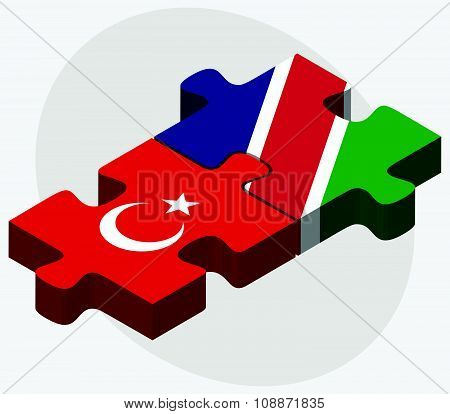 Turkey And Namibia Flags