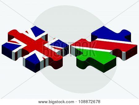 United Kingdom And Namibia Flags