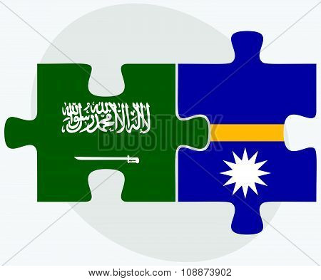Saudi Arabia And Nauru Flags