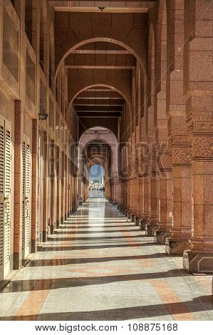 Arches Of Ancient Porch In Saudi Arabia