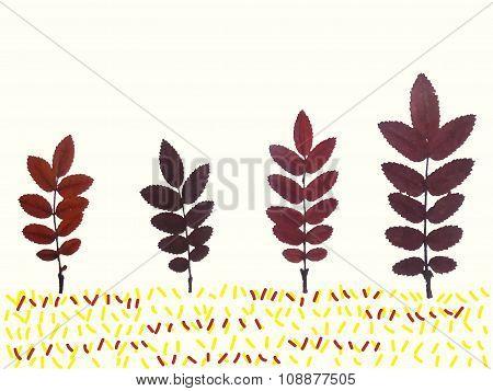 Leaves Trees Vector Children Illustration