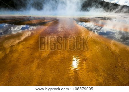 Grand Prismatic Spring Pool in Yellowstone