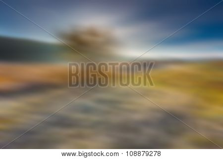 Blurry Abstract Landscape Od Fields