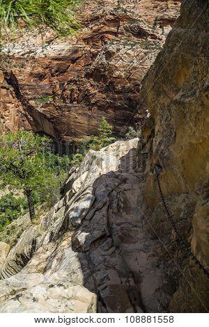 Dangerous Trail in Zion National Park