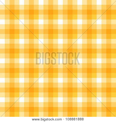 Rich gold and white checkered seamless pattern