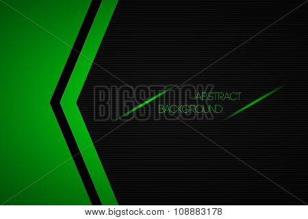 Black and green abstract vector background