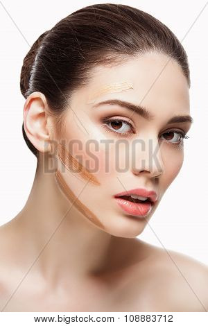 Girl with foundation