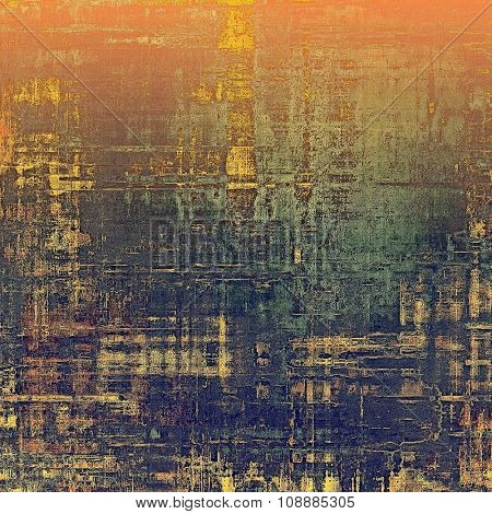 Grunge old-fashioned background with space for text or image. With different color patterns: yellow (beige); purple (violet); gray; red (orange)