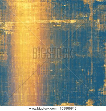 Designed grunge texture or retro background. With different color patterns: yellow (beige); brown; blue