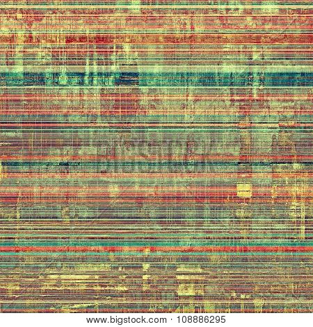 Designed background in grunge style. With different color patterns: yellow (beige); brown; green; red (orange)
