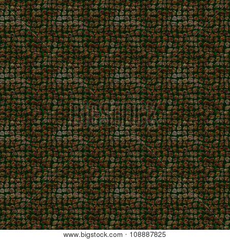 Seamless Pattern Of Unusual Illustration Of Irregular Stones