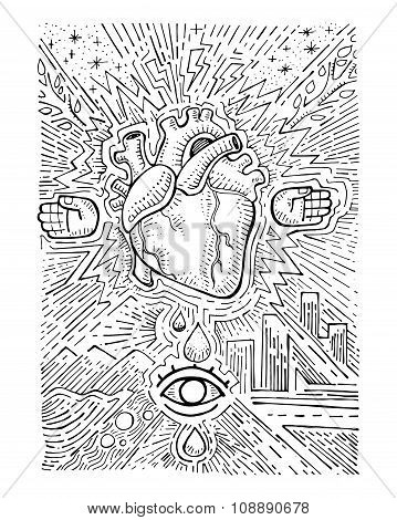 Urban Electric Heart