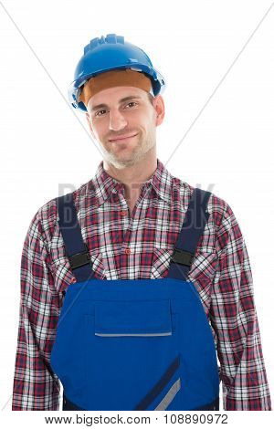 Portrait Of Smiling Construction Worker
