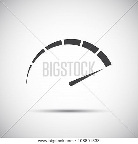 Simple vector tachometer speedometer icon