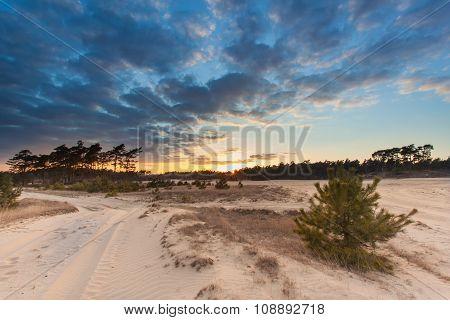 Sunset Over Drift Sand Nature Reserve