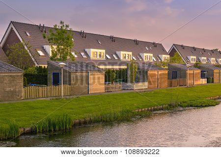 Modern Row Houses With Backyard