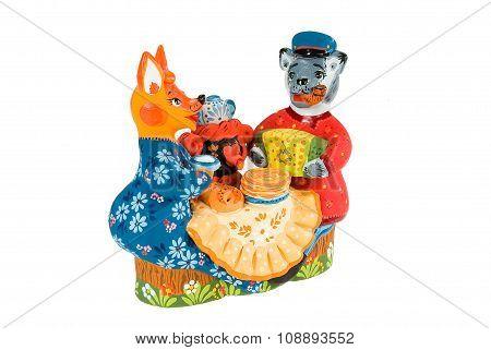 Old Russian Traditional Folk Dolls