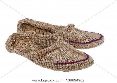 Russian National Wicker Shoes