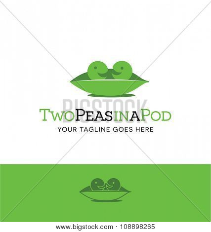 2 peas in a pod. Cute logo concept for a business or website