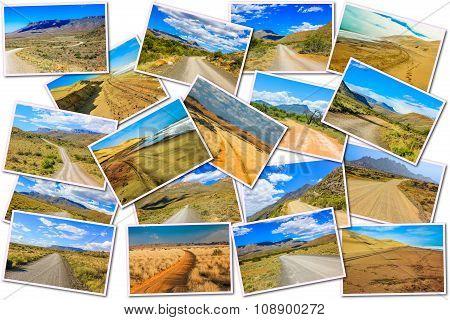Desert Road Collage
