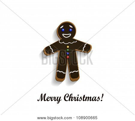 Gingerbread  chocolate man