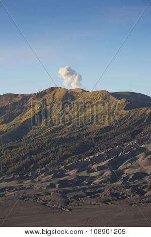 Sumeru mountain at sunrise active volcano Java ,Indonesia.