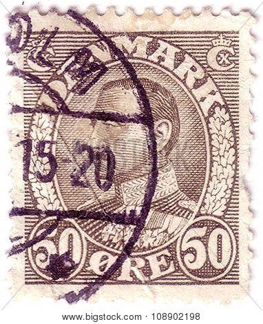 Denmark - Circa 1934: Stamp Printed By Denmark, Shows King Christian X, Circa 1934