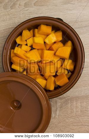 Pumpkin Sliced Clay Pot