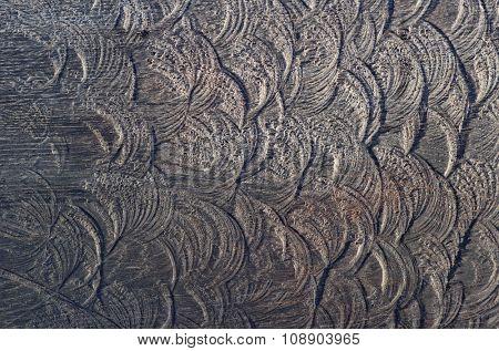 Deep textured wooden plank, natural oak