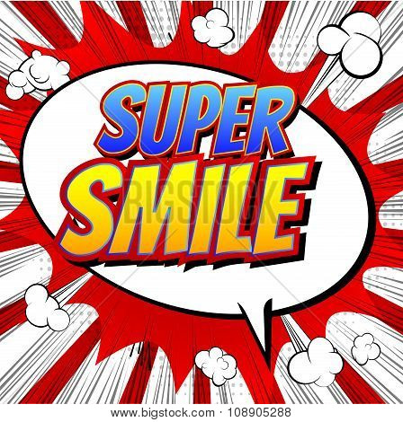 Super Smile - Comic book style word