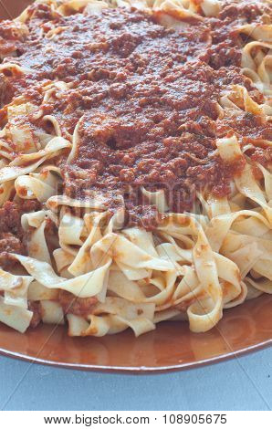 Homemade Pasta With Ragu Of Wild Boar
