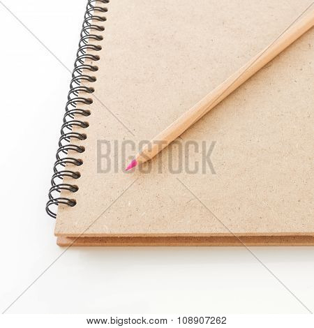 Diary Book And Pencil