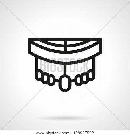 Longboard pars black simple line style vector icon