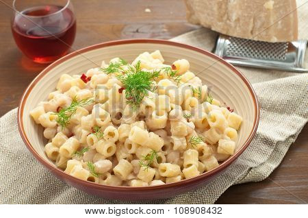 Pasta And Beans With Bacon And Wild Finocchieto