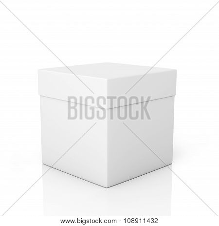 White Paper Box On A White Background.