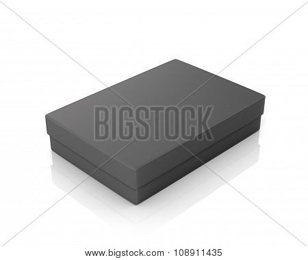 Black Paper Box On A White Background.