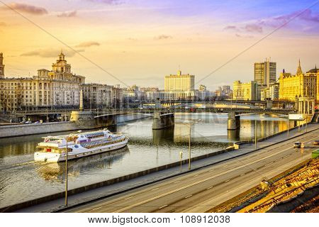 View to The House of the Government of the Russian Federation from the Moscow River