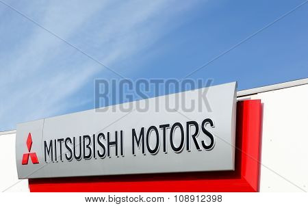 Mitsubishi Motors sign