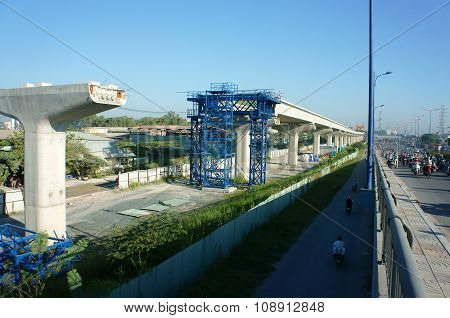 Asian Construction Work, Overhead Railway